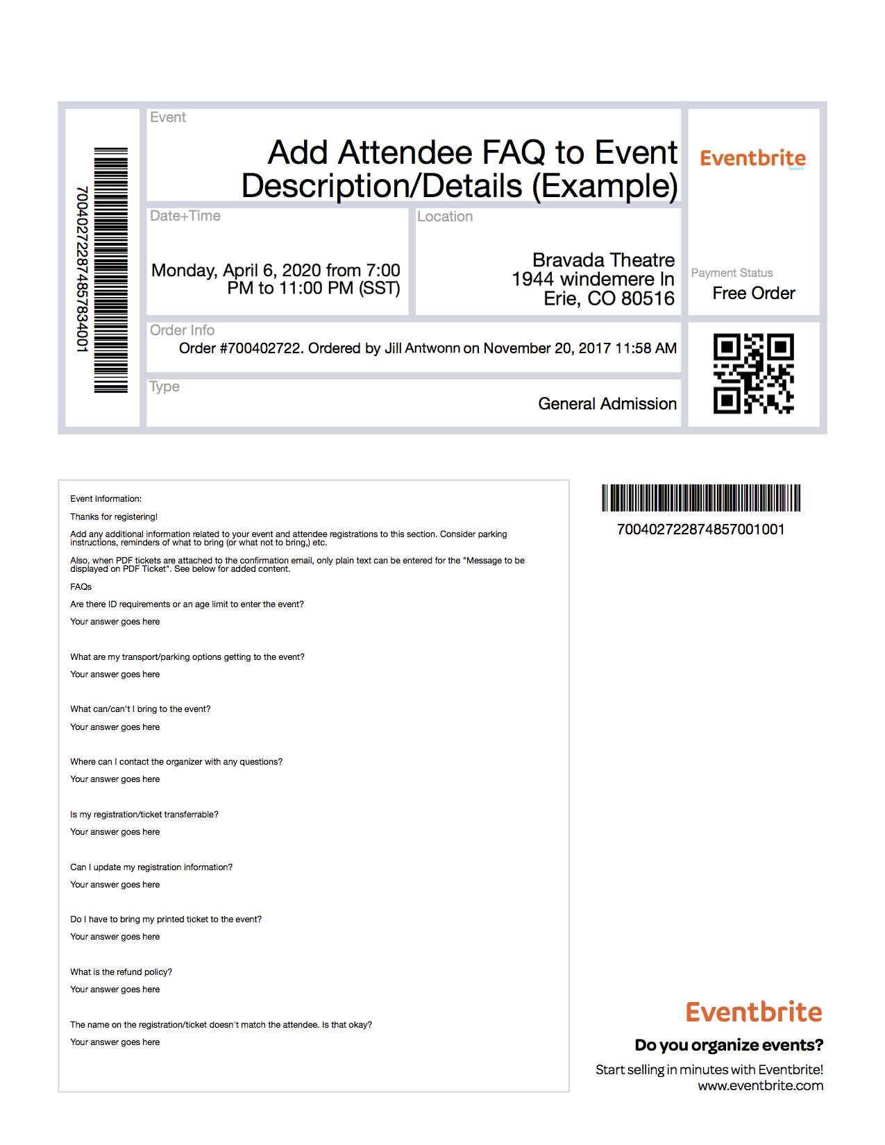 What Do Eventbrite Tickets Look Like Eventbrite Help Center