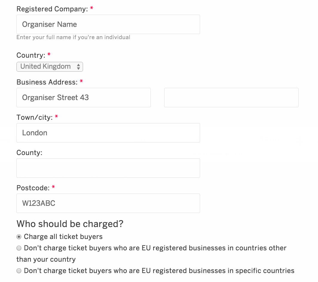 How To Set Up Country Vat Exemptions For Your Event Eventbrite