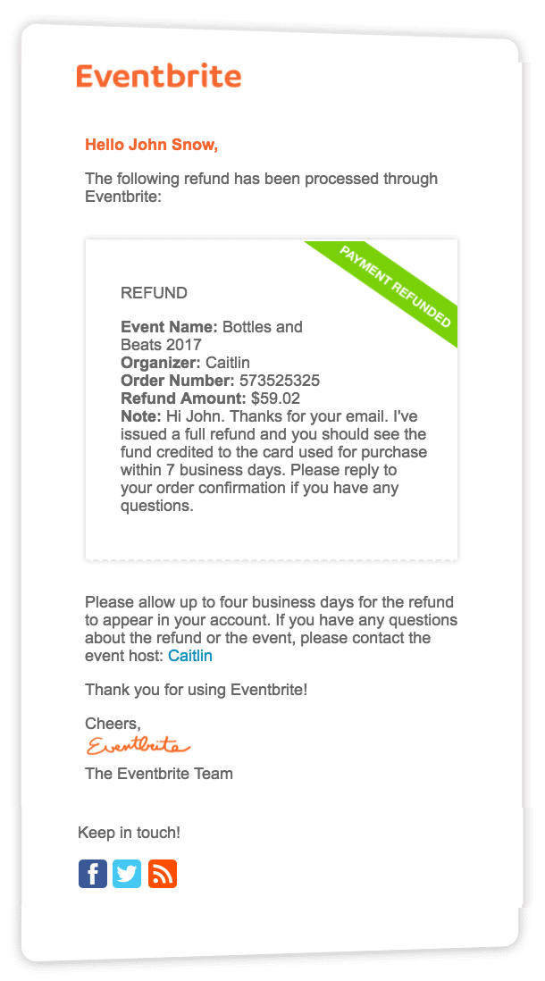 How To Refund An Order Eventbrite Help Center