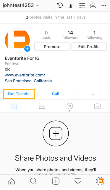 How To Add A Get Tickets Button To Your Instagram Profile