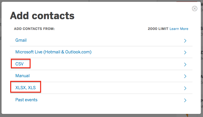 after you log in head to the contacts page then create a new contact list or add contacts to an existing list