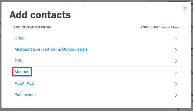 How To Create (and Import) Contact Lists