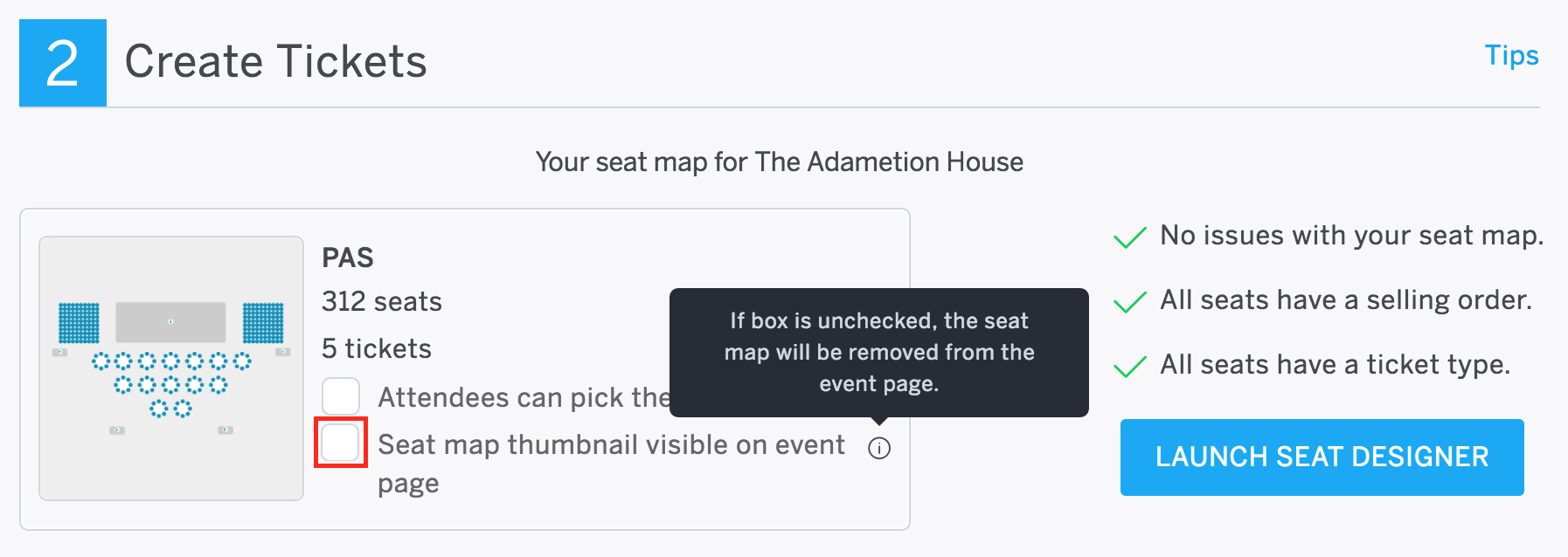 Optional Show Your Venue Map On The Event Listing