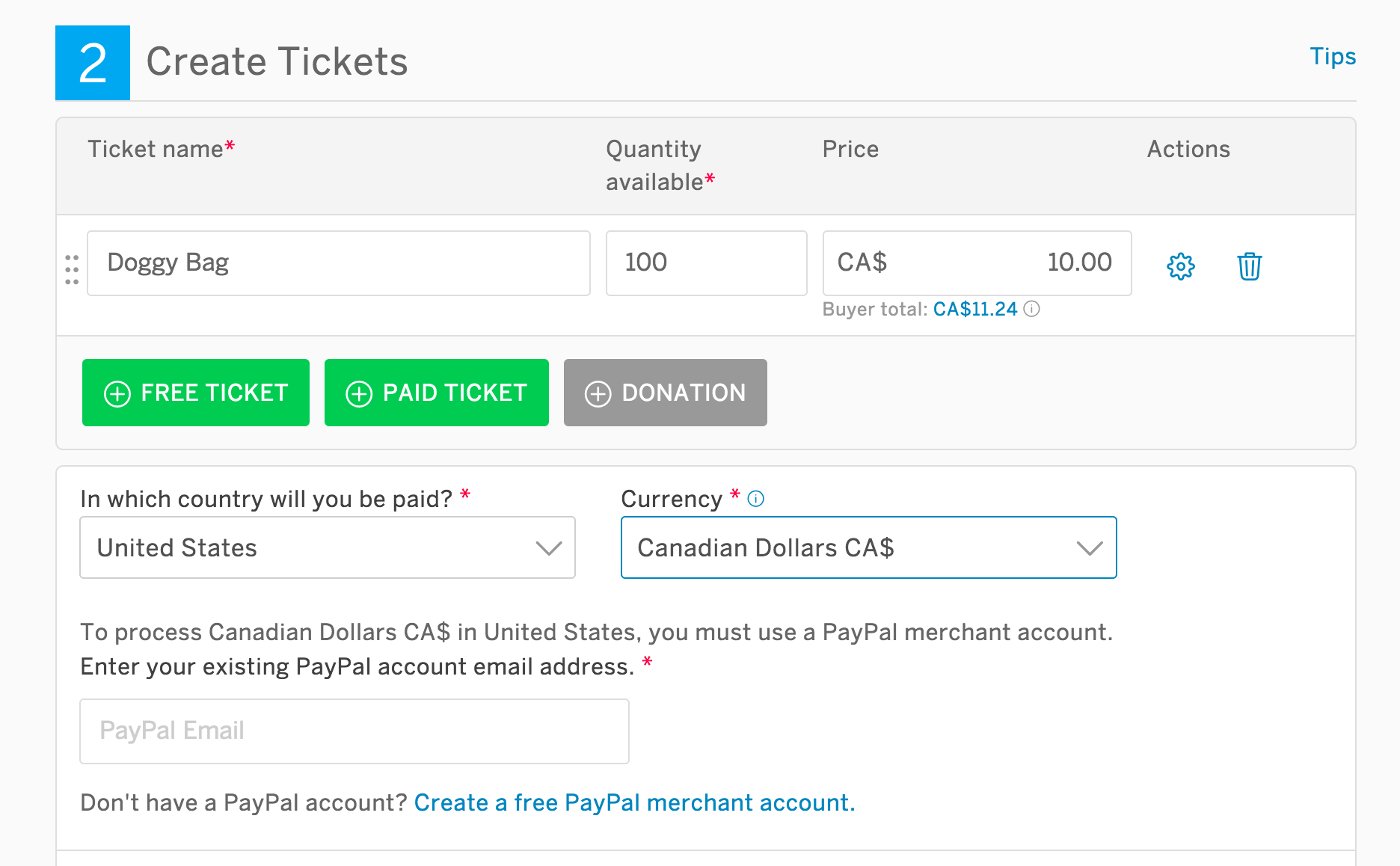 How to set the currency for your event | Eventbrite Help Center