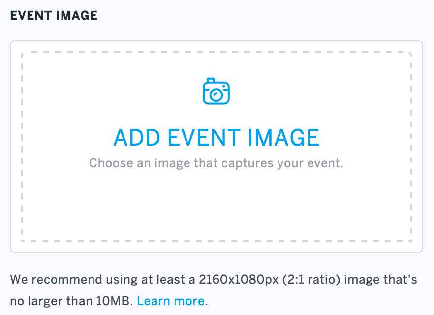 How To Add An Image To An Event Listing Eventbrite Help Center