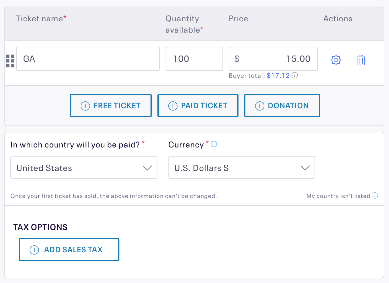 create tickets for free