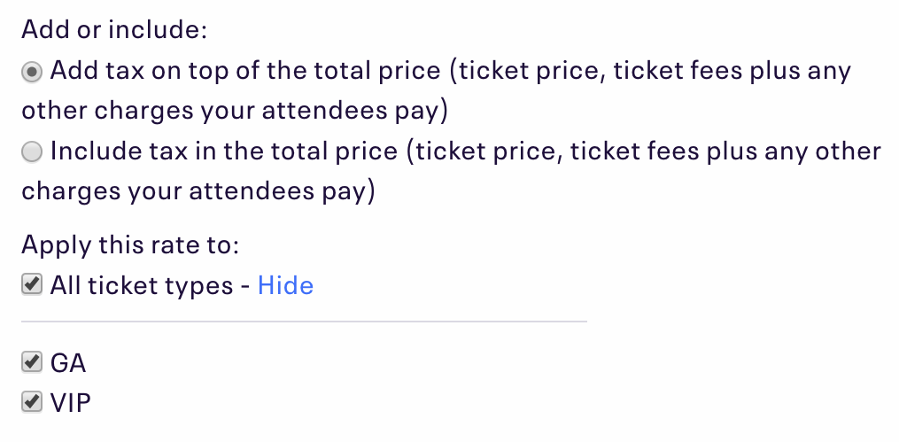 How To Charge Sales Tax On Tickets Eventbrite Help Center - Can you ask dealer for invoice price
