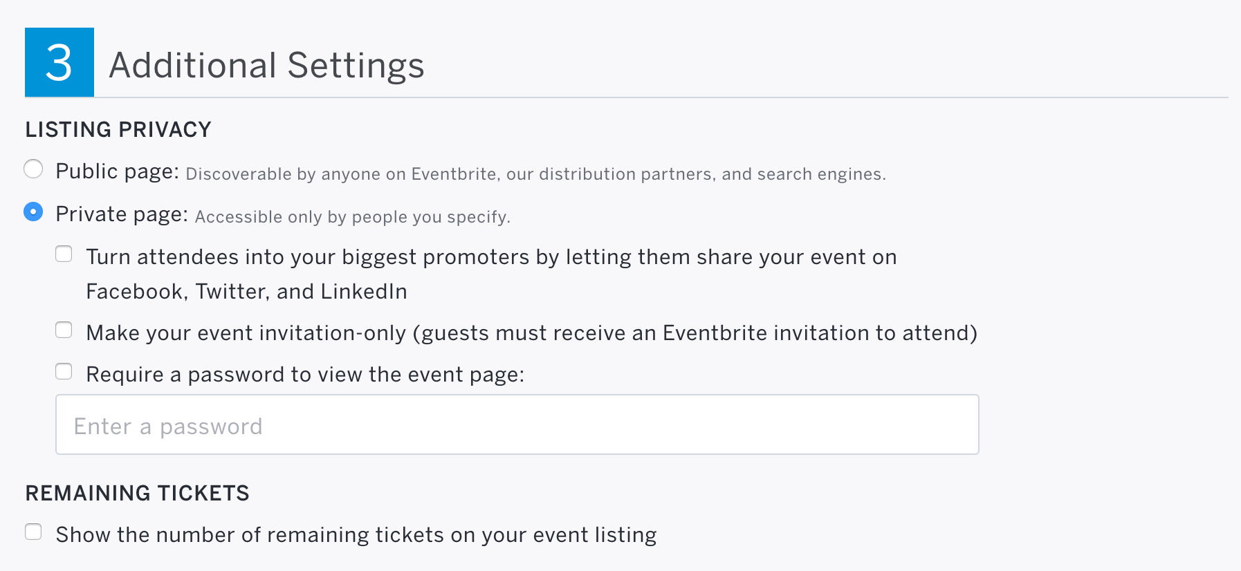 How to manage the privacy settings for your event Eventbrite Help