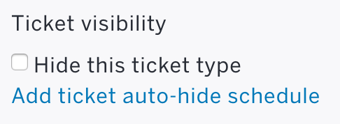 how to change the ticket price after tickets have been hide the ticket type and create a new paid ticket at the updated price