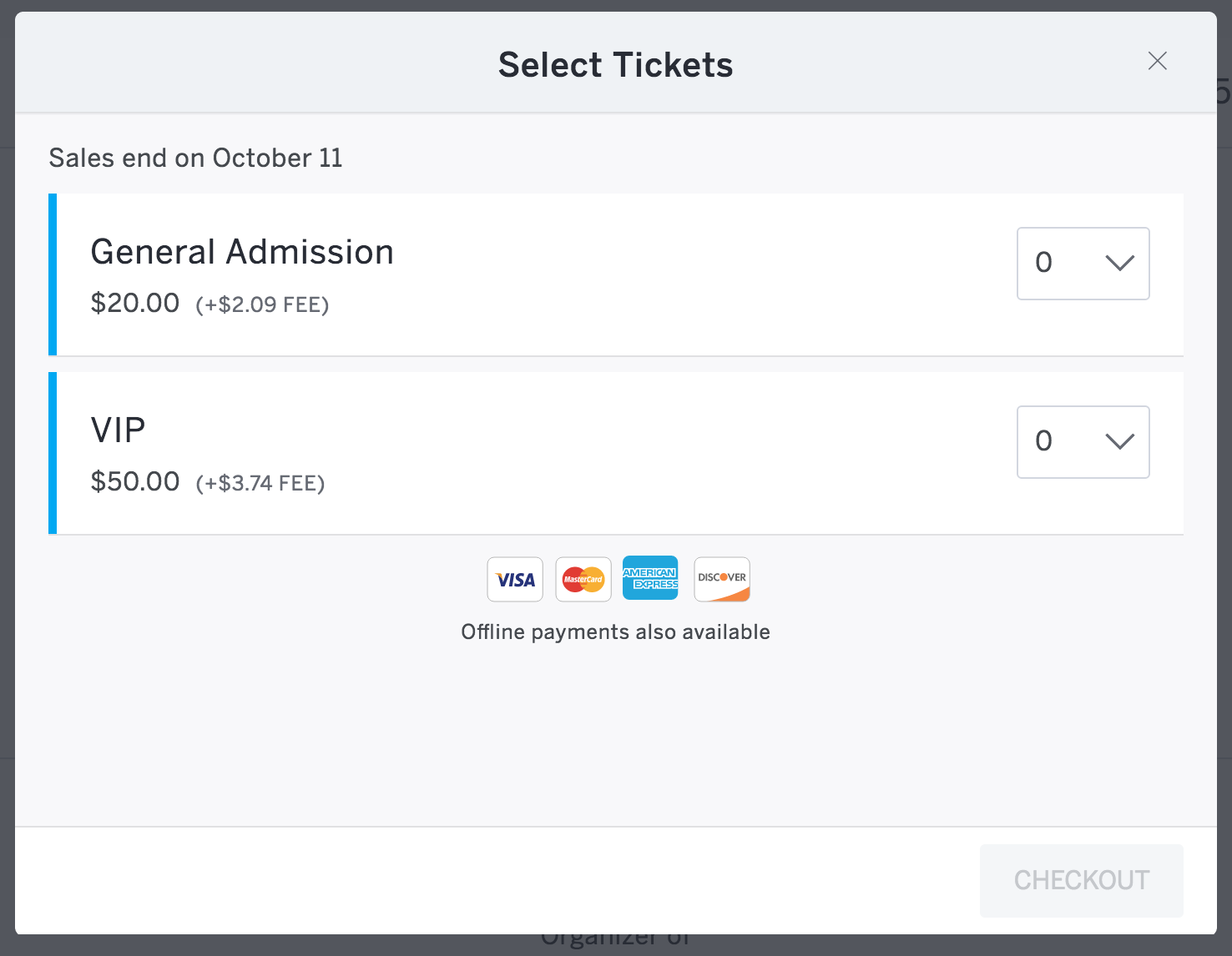 how to change the start end date and time for ticket sales