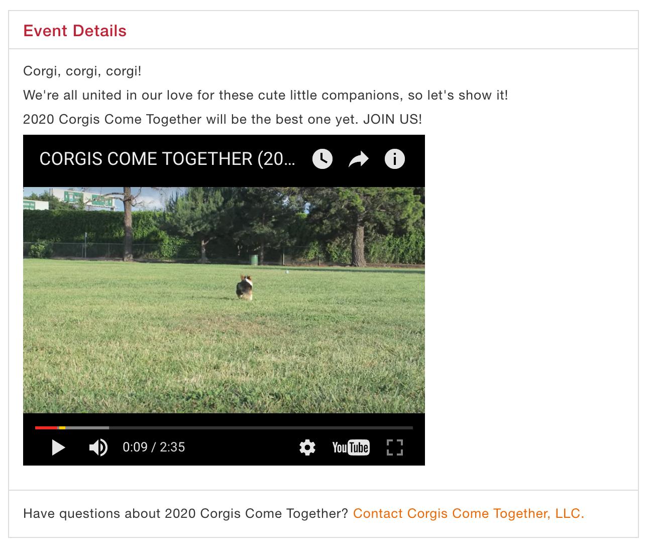 video listing: