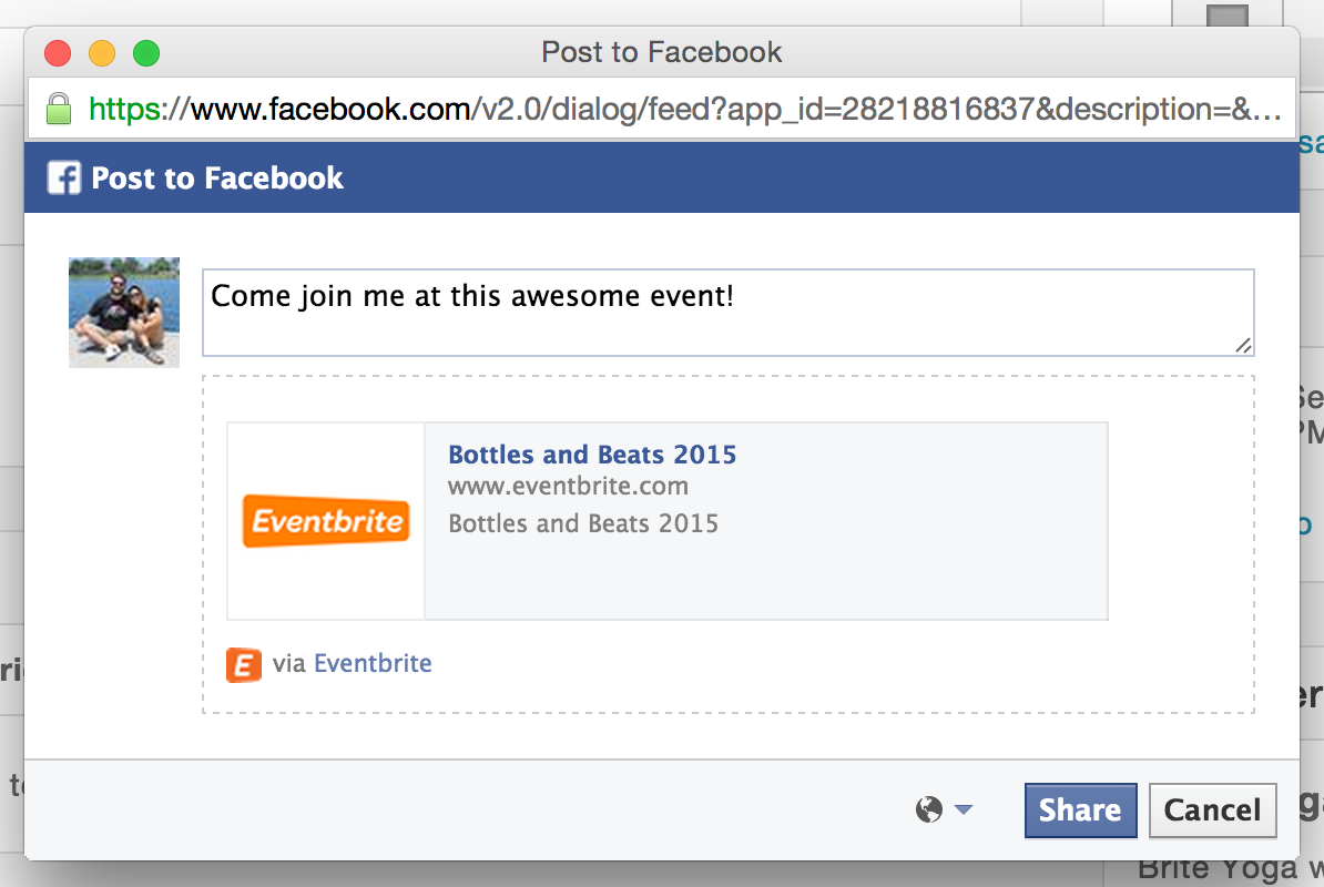 How to connect your Eventbrite account with Facebook