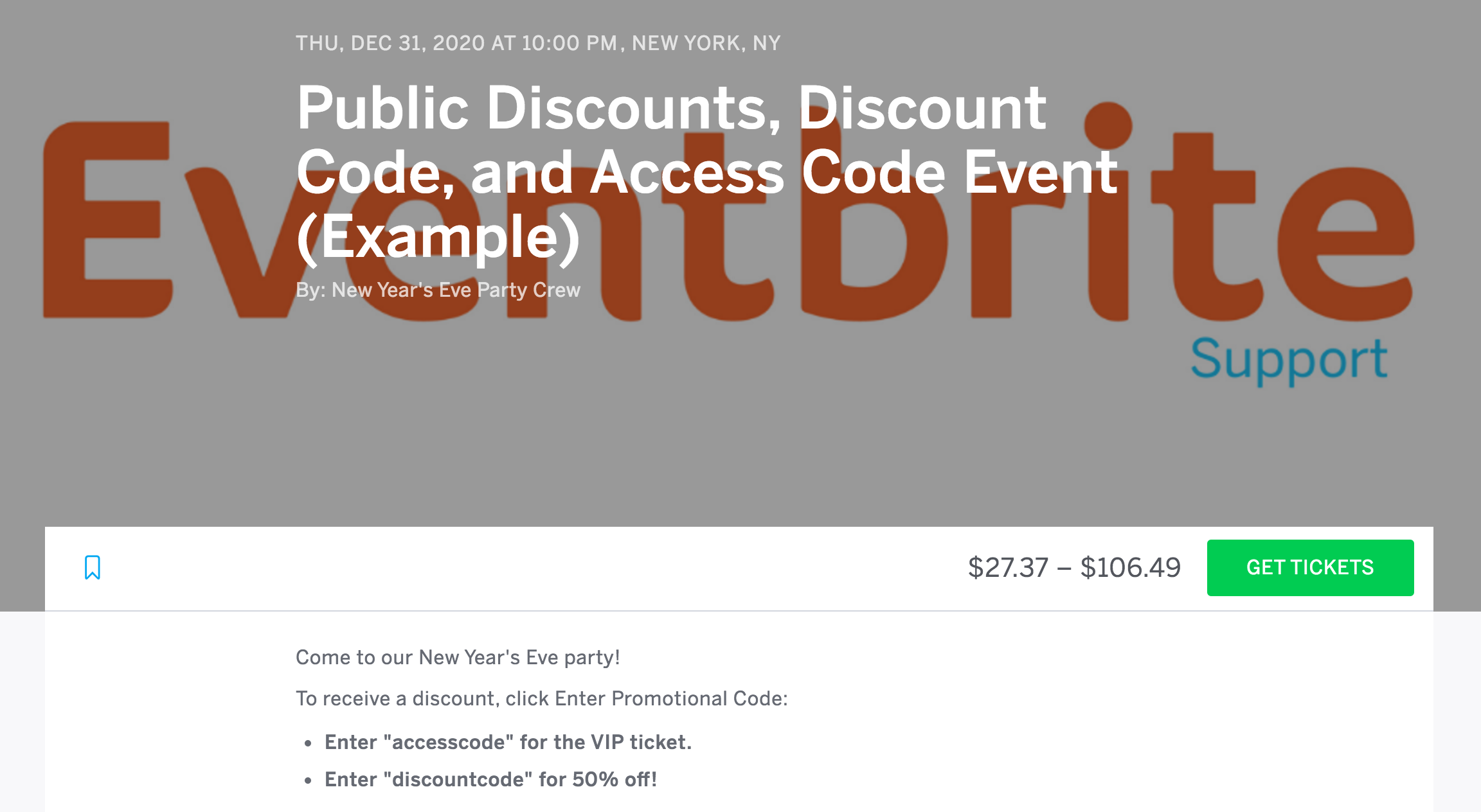 Eventbrite coupon code