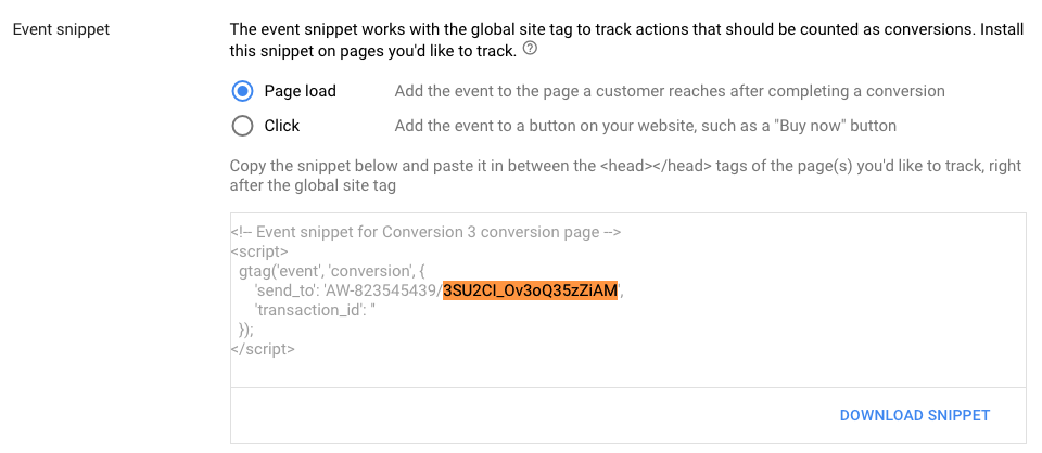 How to create a Tracking Pixel with AdWords | Eventbrite Help Center