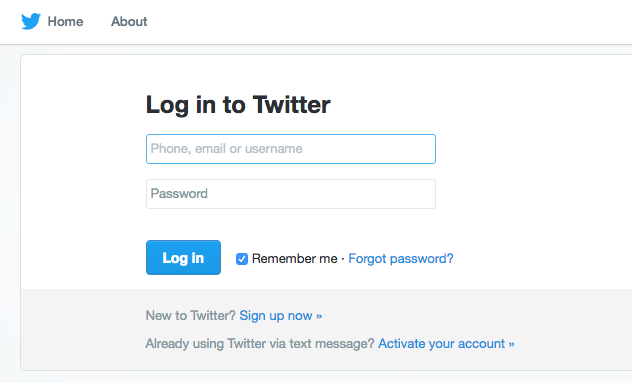 Log in to your Twitter Ads account.