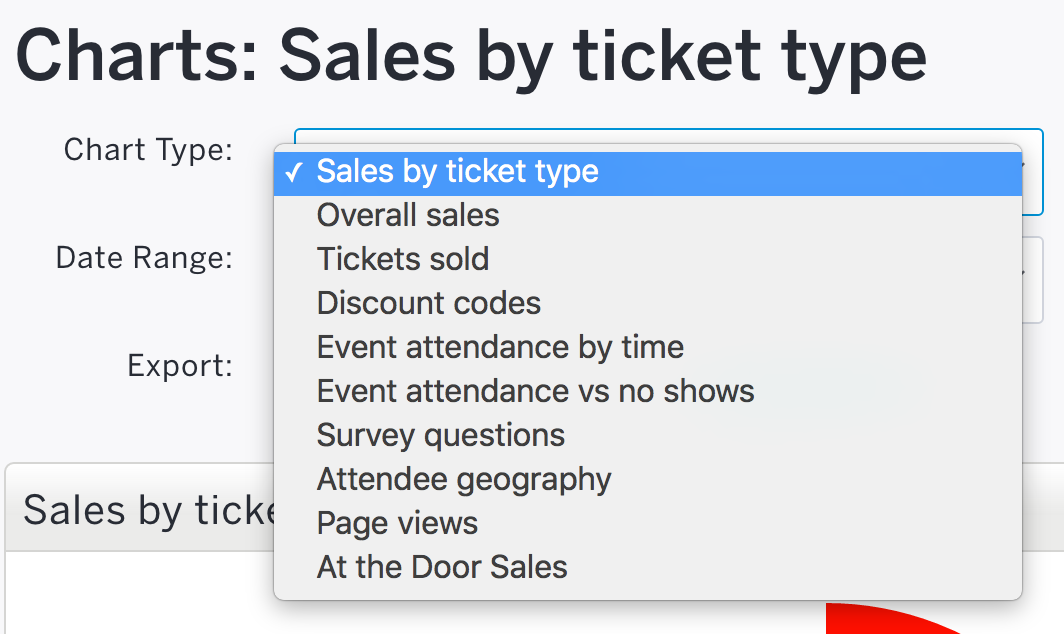 How to view event data with charts and graphs   Eventbrite Support