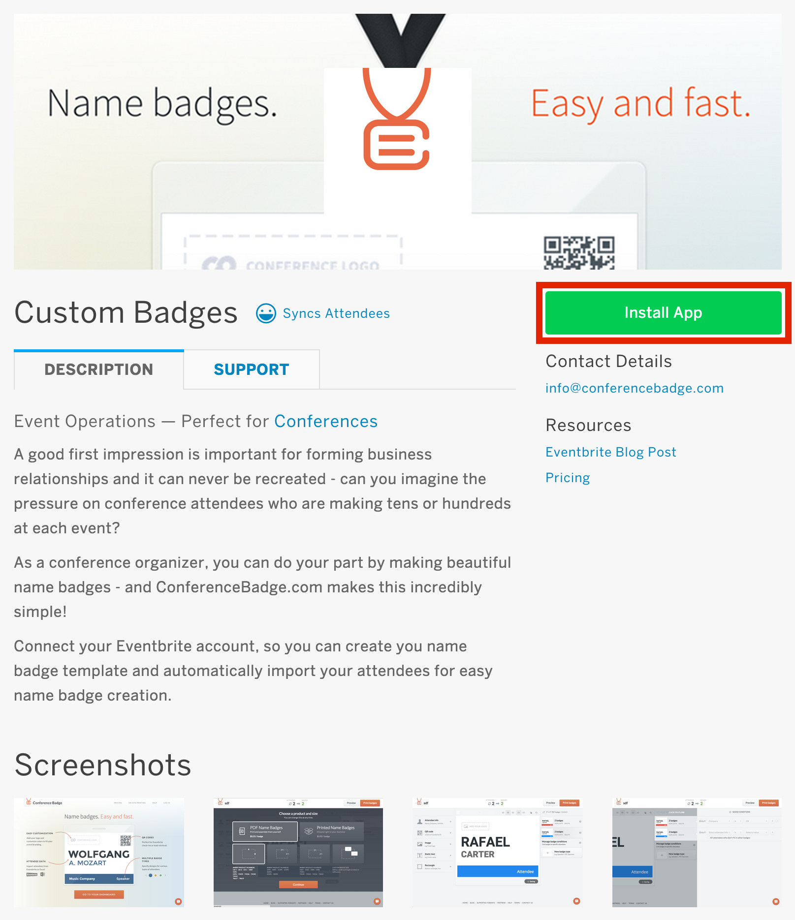How To Create Custom Name Badges With Eventbrites ConferenceBadge - Conference badge template