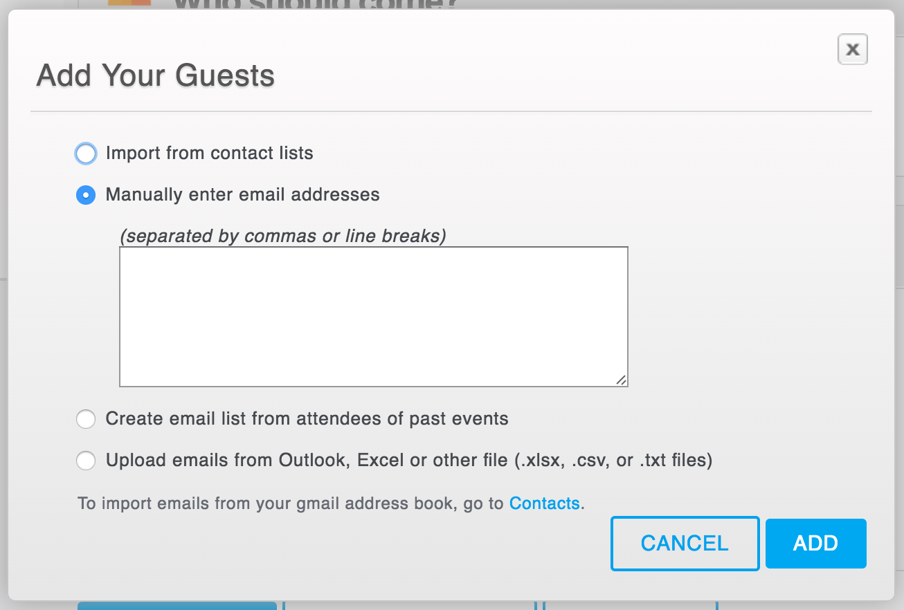 How to create and send email invitations for your event eventbrite choose who youd like to send invitations to maxwellsz