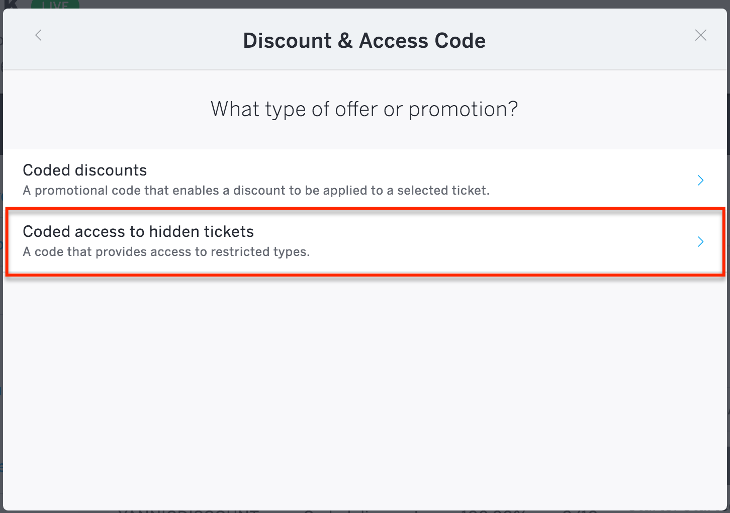 How To Set Up Access Codes For Hidden Tickets For One Or Multiple