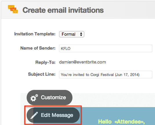 how to add images to email invitations eventbrite help centre