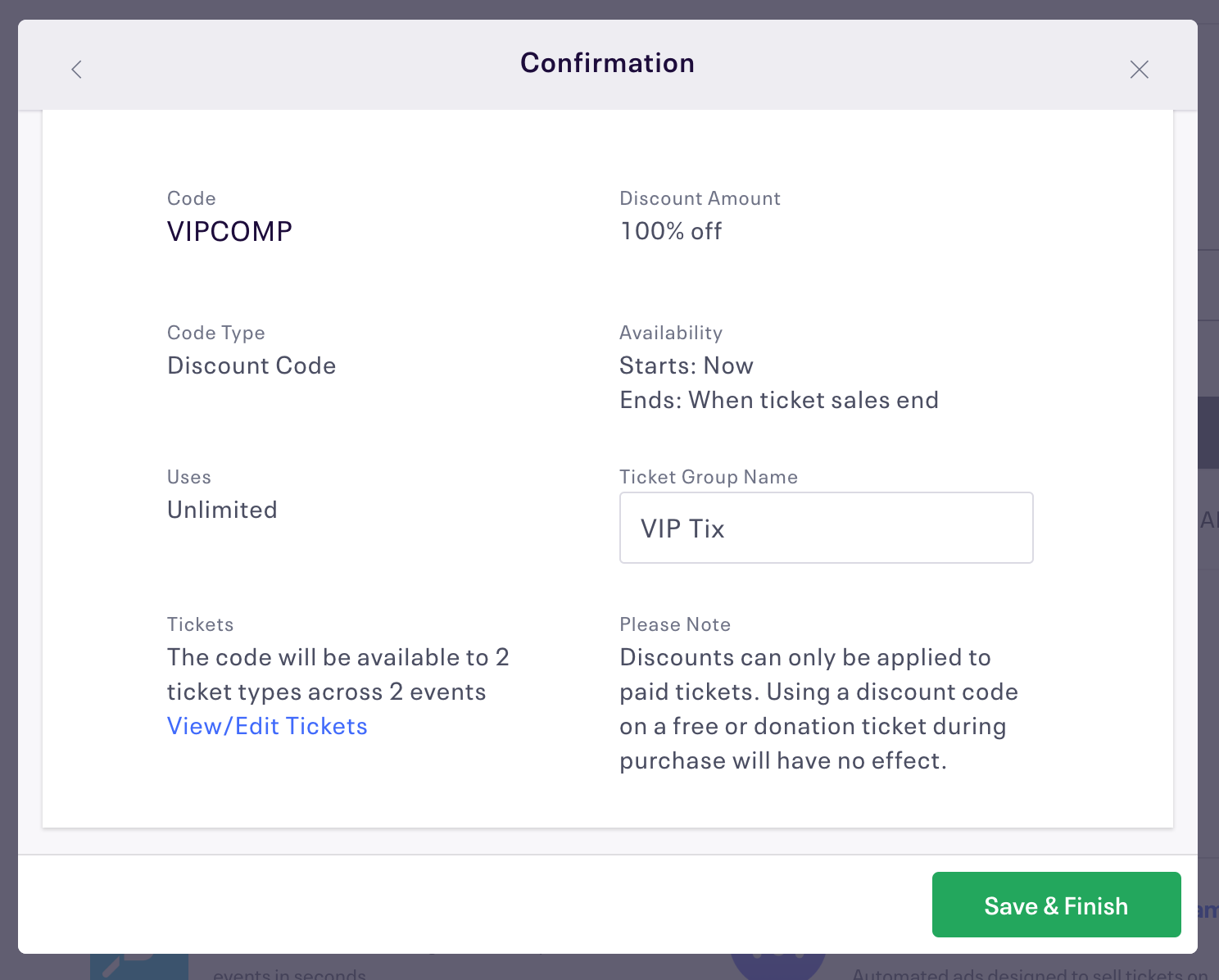 How to set up discount codes for an event | Eventbrite Help Center
