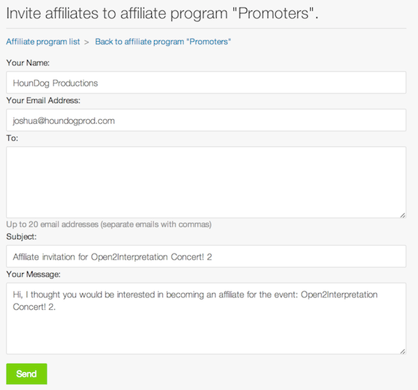 how to increase ticket sales with an affiliate program eventbrite