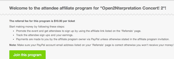 How to increase ticket sales with an affiliate program – Event Program