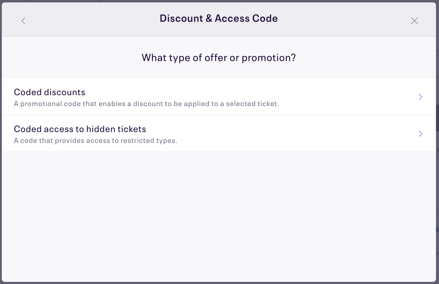 how to set up discount codes for one or multiple events