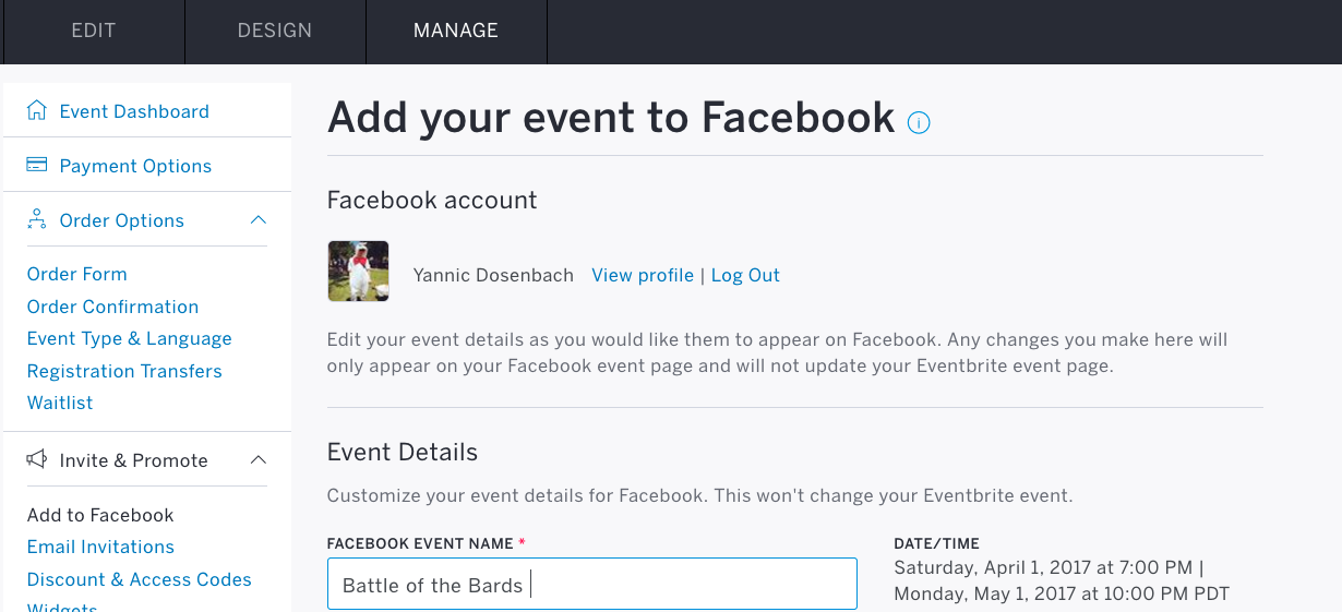 Troubleshooting eventbrites facebook feature eventbrite help center eventbrites add to facebook tool malvernweather Gallery