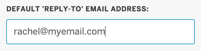 Default 'reply-to' email address: is located directly above Attachments.