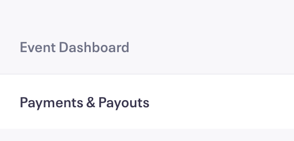 Click Save. When we have everything we need, you'll see the Payment Options button change on your Event Dashboard.