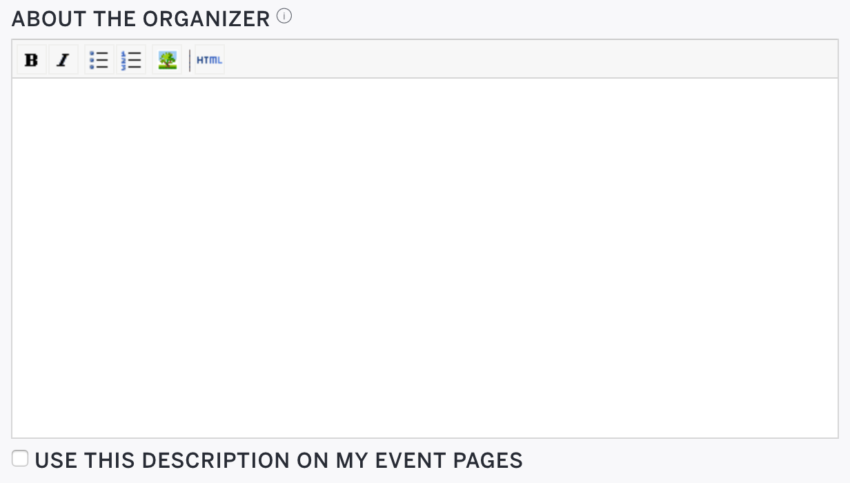 how to set up an organiser profile page eventbrite support
