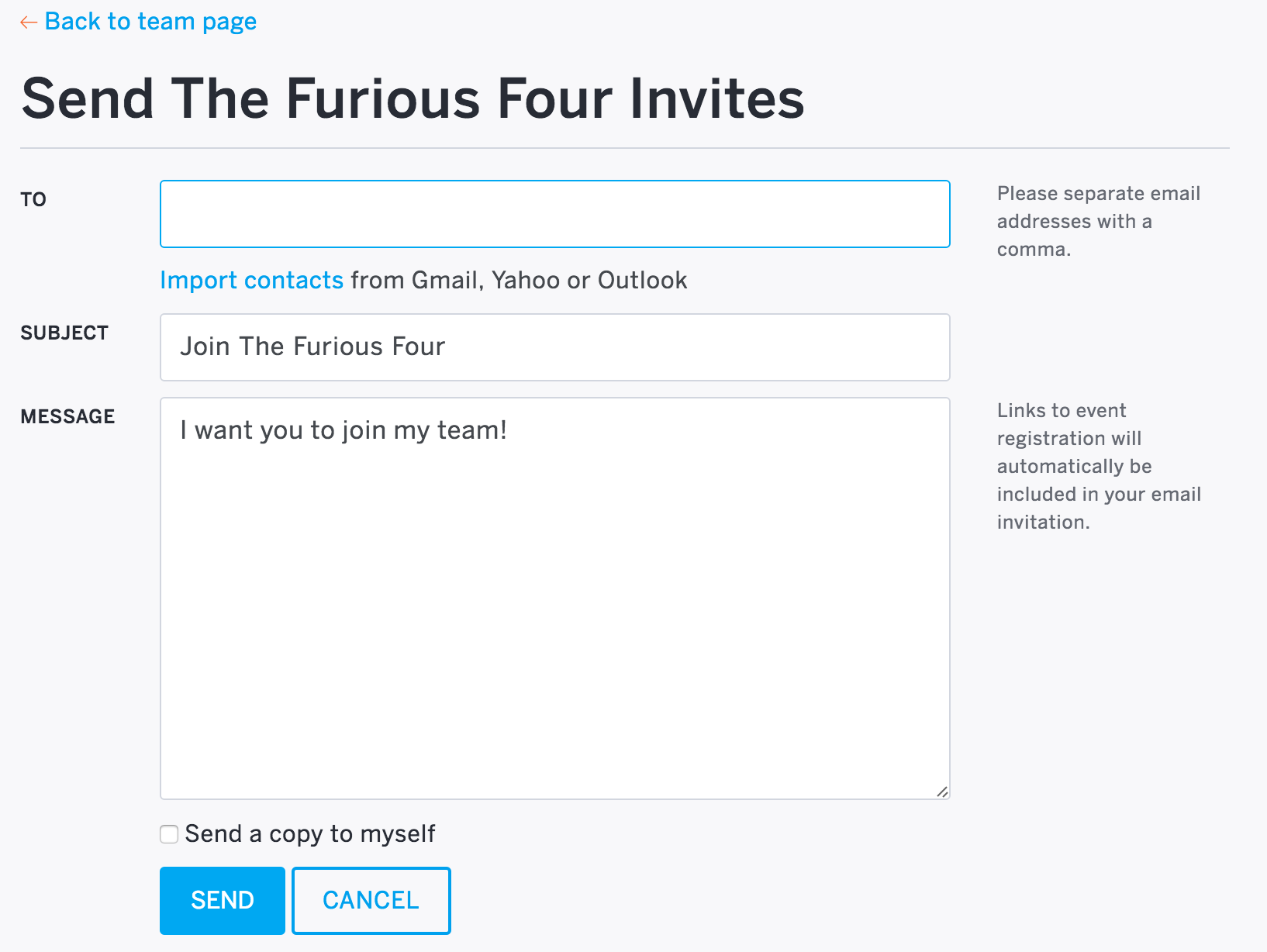 How to invite others to join a group eventbrite help centre customise the subject and message of your invite also select the box next to stopboris Gallery
