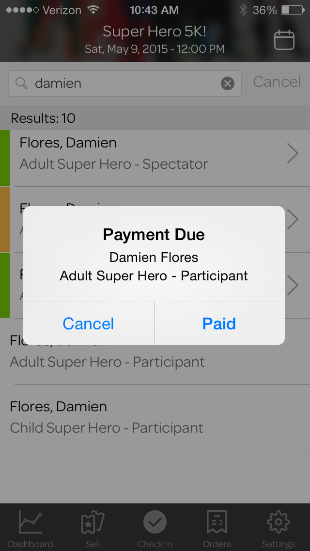 How to accept payments by check, invoice, or at the event