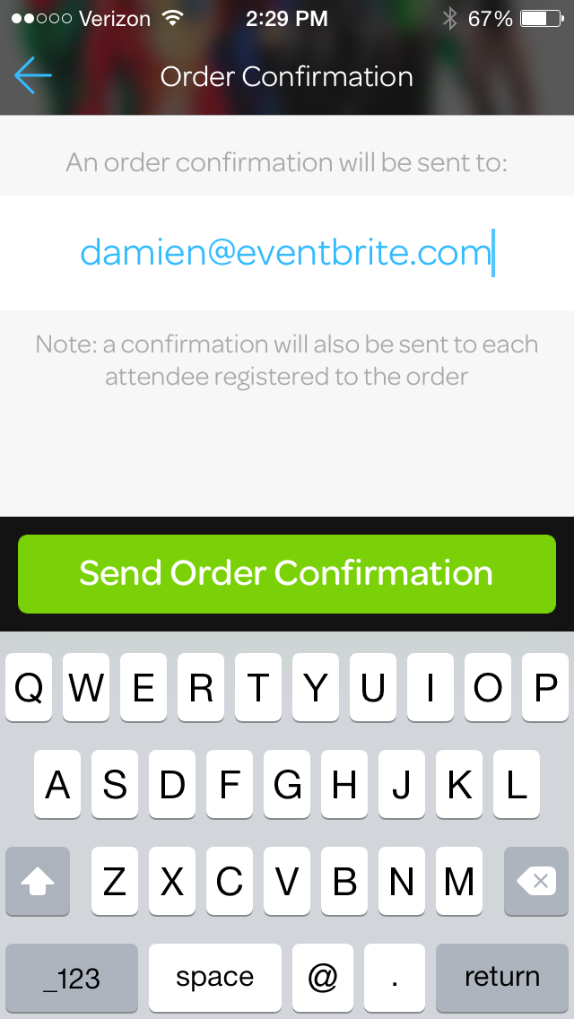 How to resend an order confirmation from Eventbrite
