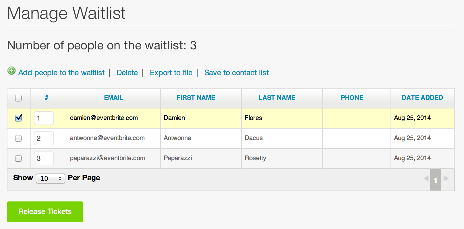 How do I remove someone from the waitlist? | Eventbrite Help Center