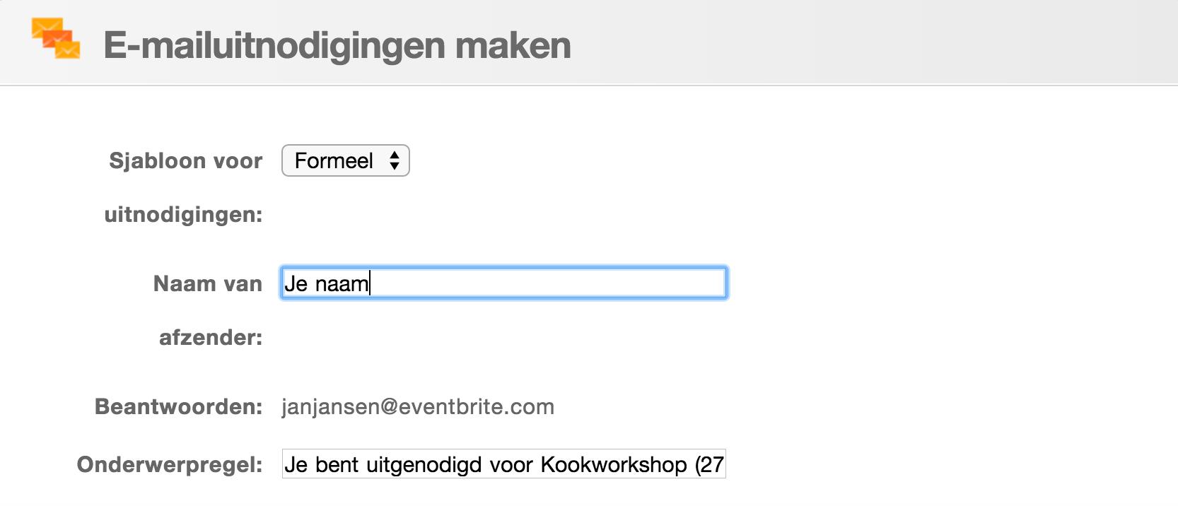 Bekend E-mailuitnodigingen maken en verzenden voor je evenement #XW48
